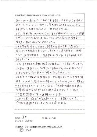 松戸北小金の整体院体験談